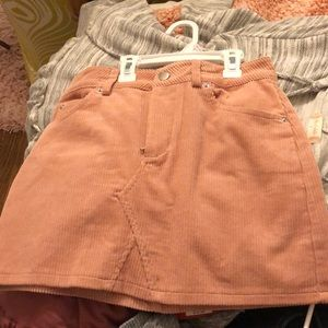 Pink corduroy skirt from Forever 21